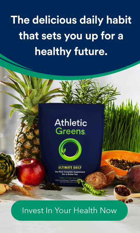Athletic Greens banner